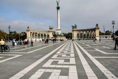 布达佩斯,匈牙利(英雄正方形) 库存照片