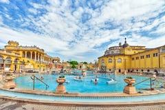布达佩斯,匈牙利05,2016 :Szechenyi浴庭院,虎队 免版税库存照片