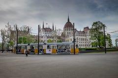 布达佩斯,匈牙利- AVRIL 15日2016年:在平方的科苏特的议会 免版税图库摄影