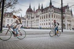 布达佩斯,匈牙利- AVRIL 15日2016年:科苏特广场 库存图片