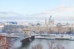 布达佩斯,匈牙利Ciryscape  免版税图库摄影