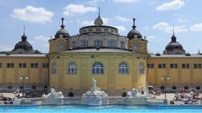 布达佩斯,匈牙利Szechenyi浴主楼  股票录像