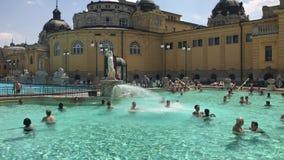 布达佩斯,匈牙利Szechenyi浴  影视素材