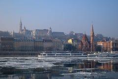 布达佩斯,日出的匈牙利 库存图片