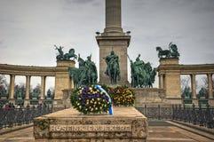 布达佩斯,英雄的正方形-细节 库存图片