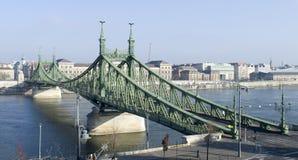 布达佩斯,铁锁式桥梁 免版税库存图片