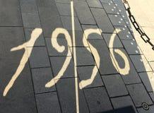 布达佩斯, Hungari - 2017年8月29日:在memoriam的纪念品1956年 10月25日 在布达佩斯,匈牙利 库存照片