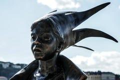 布达佩斯, HUNGARY/EUROPE - 9月21日:Kiskiralany雕象 免版税库存图片