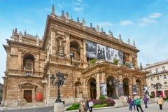 布达佩斯, HUNGARY-MAY 02日2016年:匈牙利状态歌剧院是 免版税库存照片