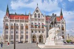 布达佩斯, HUNGARY-MAY 02日2016年:匈牙利议会在布达佩斯 免版税图库摄影