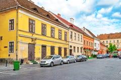 布达佩斯, HUNGARY-MAY 03日2016年:在StStephen附近的区域风景 免版税库存图片