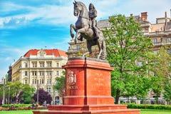 布达佩斯, HUNGARY-MAY 02日2016年:弗朗西斯的纪念碑II Rakoczi 免版税库存照片