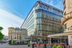 布达佩斯, HUNGARY-MAY 04日2016年:美好的风景和都市vi 免版税库存图片