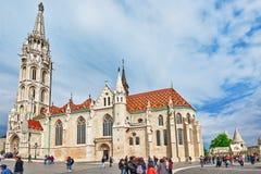 布达佩斯, HUNGARY-MAY 03日2016年:St马赛厄斯教会在布达佩斯 免版税库存图片