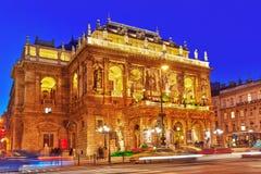布达佩斯, HUNGARY-MAY 05,2016 :匈牙利状态歌剧院是a 免版税库存照片