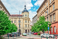 布达佩斯, HUNGARY-MAY 02,2016 :美好的风景都市视图,城市 库存图片