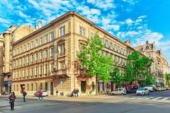 布达佩斯, HUNGARY-MAY 04,2016 :美好的风景都市视图,城市 免版税库存图片