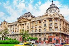 布达佩斯, HUNGARY-MAY 02,2016 :美好的风景都市视图,城市 免版税库存图片