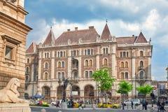 布达佩斯, HUNGARY-MAY 02,2016 :Dreschler宫殿华美的buildin 库存图片