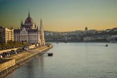 布达佩斯(匈牙利)的议会 免版税库存照片