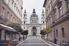 布达佩斯-圣斯蒂芬` s大教堂,匈牙利 Szent Istvan看法  免版税图库摄影