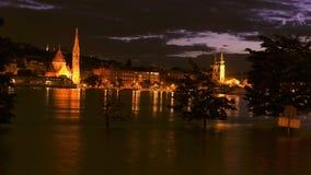 布达佩斯洪水多瑙河2013年 06 30 图库摄影
