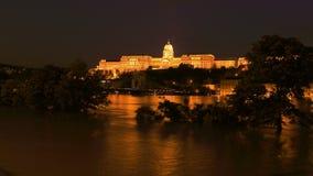 布达佩斯洪水多瑙河2013年 06 30 免版税图库摄影
