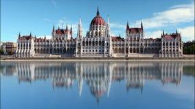 布达佩斯-议会天-时间间隔 股票视频