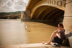 布达佩斯洪水 免版税库存照片