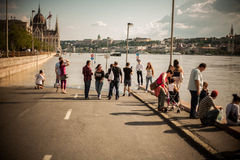 布达佩斯洪水 图库摄影