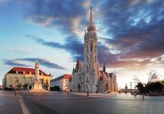 布达佩斯- Mathias教会正方形,匈牙利 免版税库存图片