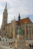 布达佩斯` s城堡小山的马赛厄斯教会 免版税库存图片