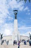 布达佩斯Citadela纪念碑 图库摄影