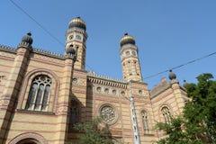 布达佩斯dohany匈牙利街道犹太教堂 库存照片