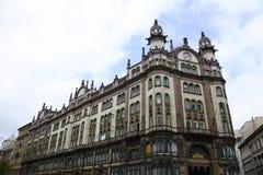 布达佩斯Ferenciek广场宫殿 免版税库存图片