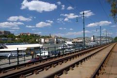 布达佩斯ii河沿 库存照片