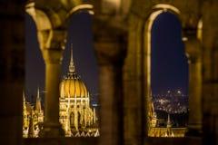 布达佩斯pariament视图 库存图片