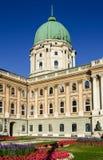 布达城堡新古典主义的圆顶,布达佩斯 免版税库存照片