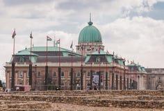 布达城堡是匈牙利国王的历史城堡和宫殿复合体在布达佩斯 免版税库存图片