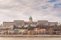 布达城堡是匈牙利国王的历史城堡和宫殿复合体在布达佩斯 库存图片