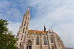布达城堡的马赛厄斯教会在布达佩斯, 免版税库存照片