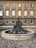 布达城堡雕象布达佩斯匈牙利旅行 图库摄影