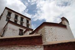 布达拉宫在西藏 图库摄影