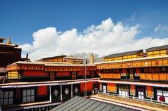 布达拉宫屋顶  库存图片