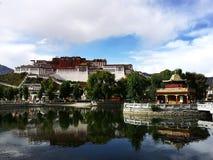 布达拉宫风景  免版税库存照片