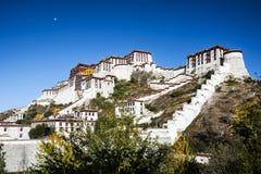 布达拉宫,西藏 免版税库存照片