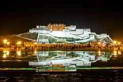 布达拉宫,西藏 库存照片