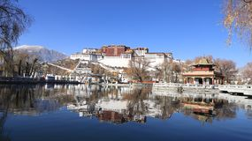 Potala Place in winter stock photos