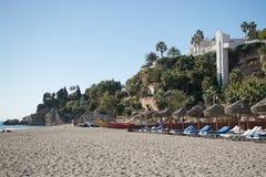 布里亚纳沙滩和蓝色海洋 免版税库存图片