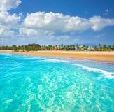 布里亚纳海滩在西班牙的卡斯特利翁省 免版税库存图片